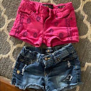 2 pairs girls Lucky Brand Riley shorts
